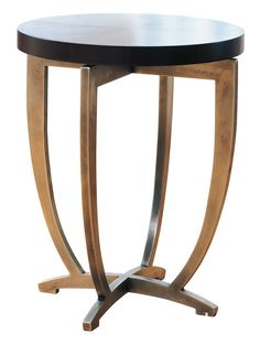 Powell & Bonnell cocktail table black and brass