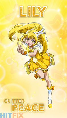 Meet the Magical Girls of a new generation in Netflix's Glitter Force: this little cutie is Lily otherwise known as Glitter Peace Glitter Lucky, Glitter Toes, Glitter Slime, Glitter Girl, White Glitter, Glitter Makeup, Glitter Eyeshadow, Doki Doki Anime, Manga Anime