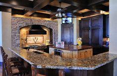 Donna's Blog: kitchen stone walls | Vining Design Associates