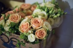 My and my bridesmaids bouquet
