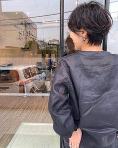 前下がり×マッシュショートボブ in 2020 Short Perm, Short Hair Cuts, Short Hair Styles, Cut My Hair, New Hair, Short Hairstyles For Women, Messy Hairstyles, Hair Brained, Dream Hair