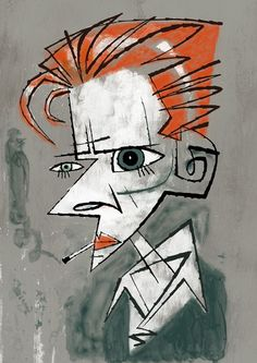 David Bowie-Thin White Duke by illustrator Jonathan Edwards: