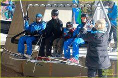 Gwen Stefani and Gavin Rossdale's boys Kingston and Zuma go skiing in Mammoth, California on January 2, 2014