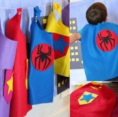 Cómo hacer una capa de superhéroe | http://www.multipapel.com/familia-material-para-disfraces-maquillaje-bolsas-de-color.htm
