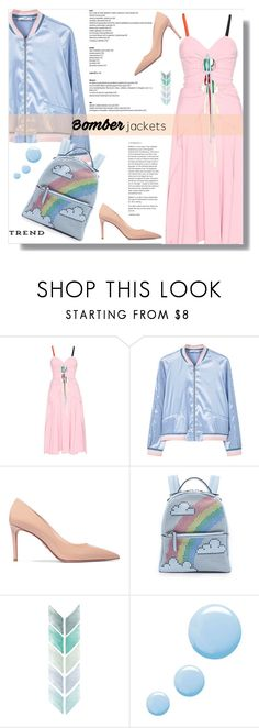 """Light Topping: Summer Bomber Jackets // Top Fashion Sets for Jul 27th, 2016"" by bliznec-anna ❤ liked on Polyvore featuring Rosie Assoulin, MANGO, Prada, Les Petits Joueurs, Topshop, bomberjackets, polyvoreeditorial, polyvorecontest and polyvorefashion"
