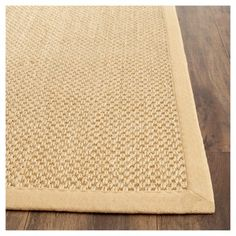 Avalon Natural Fiber Accent Rug - Maize (Yellow) / Wheat (3' X 5') - Safavieh, Durable
