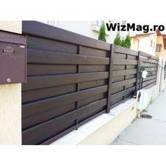 Modern Fence Design, House Gate Design, Wooden Fence, Garage Doors, Interior, Garden, Outdoor Decor, Home Decor, Model