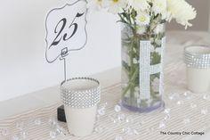 Wedding Ideas - Reception Table Decor with #DavidTuteraDIY - * THE COUNTRY CHIC COTTAGE (DIY, Home Decor, Crafts, Farmhouse)