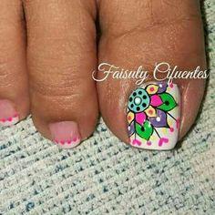 Summer Toe Nails, Fun Nails, Pedicure Designs, Nail Art Designs, Nail Shop, Toe Nail Art, Mani Pedi, Nail Arts, Lip Colors