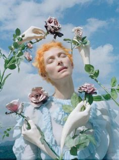 Escape from reality with these surreal photographs of Tilda Swinton by Tim Walker. The fashion shoot, Stranger Than Paradise, is for the May 2013 edition of W Magazine. Via: W Magazine Tilda Swinton, Editorial Photography, Art Photography, Fashion Photography, Spring Photography, Modeling Photography, Adventure Photography, Glamour Photography, Lifestyle Photography