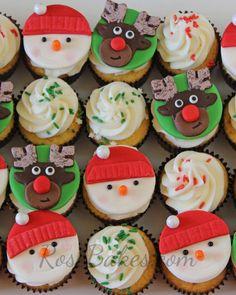 Image result for christmas cupcake fondant