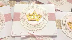 Convite Coroa princesa e príncipe