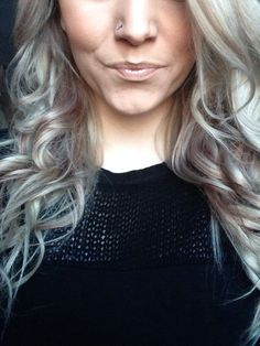 Grey ash blonde & red hair  weird cause I am not a grey nor ash color lover but this is beautiful.