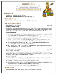 13 Best Teacher Resumes Examples images | Resume ideas, Job resume ...