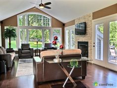 Check out this Family Room in Kitchener #ComFree #homewithaview