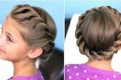 Twisted Crown Braid for Kids