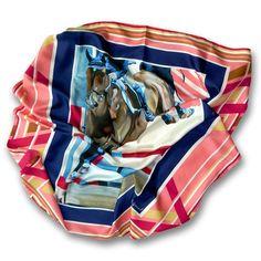 Equestrian Silk Scarf by L. Lavone: Il Salto - The Leap made in Italy. Shop llavone.com