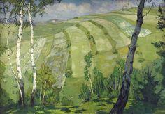 Landscape with birch trees, Alois Kalvoda. Czech (1875 - 1934)