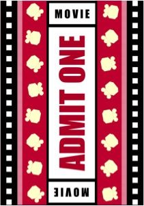"""This Quilt Could Be Yours ~ the perfect XL twin-sized quilt for movie night. Stylized popcorn blocks on a red background resembling a movie ticket with black and white film sprocket side borders. Approximately 65"""" x 92.5""""; $650. Click thru to have this quilt custom made just for you by Whimzie Quiltz and More today!"""
