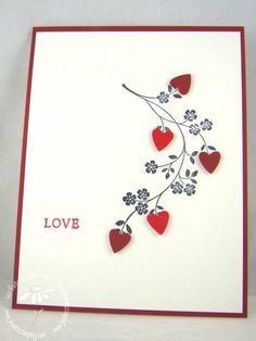 Strawberry hearts card