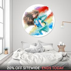 Discover «sky princess», Limited Edition Disk Print by Kayla Marie Pruyssers - From $99 - Curioos Aluminium Sheet, High Gloss, Bean Bag Chair, Artworks, Things To Come, Sky, Princess, Furniture, Design