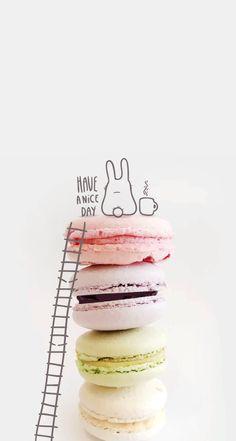 Fond d'écran / wallpaper #cute #macarons