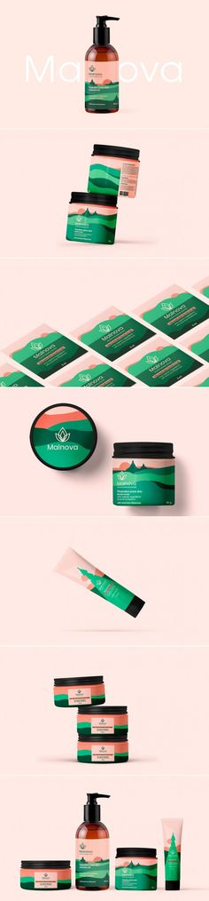 Beauty products packaging branding