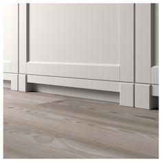 LERHYTTAN Leg for decorative plinth Light grey IKEA