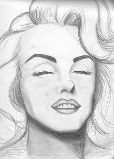 pencil marilyn drawing monroe drawings easy beginners portrait sketches faces cool champuru portraits animals woman deviantart animal visit figures