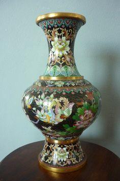 Authentic Cloisonne Vase. Japan, 1960's.