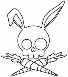 Super Ideas embroidery projects for kids urban threads Skull Coloring Pages, Coloring Book Pages, Colouring, Adult Coloring, Hand Embroidery Designs, Embroidery Stitches, Embroidery Patterns, Coloring Pages For Grown Ups, Bunny Images
