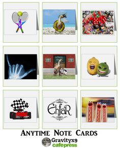When you want to just send a little note, check out these unique note cards by #Gravityx9 at #Cafepress