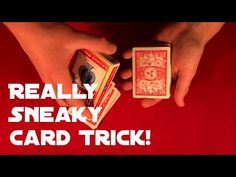 Video below will teach you very easy card trick. It requires no sleight of hand, only one a bit sneaky move that you should be able to do without any problem ; Card Tricks For Beginners, Easy Card Tricks, Sleight Of Hand, Magic, Teaching, Cards, The Conjuring, Education, Maps
