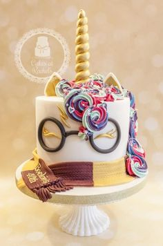 Harry Potter Unicorn Cake – Cake by Rachel Harry Potter Unicorn Cake – Kuchen von Rachel Bolo Harry Potter, Gateau Harry Potter, Harry Potter Food, Harry Potter Desserts, Harry Potter Birthday Cake, Pretty Cakes, Beautiful Cakes, Amazing Cakes, Cupcakes