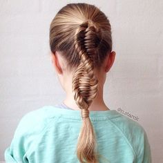 #coiffure #cheveux longs - tresse adn