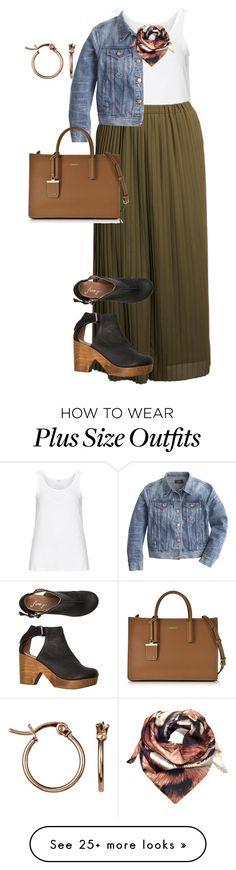 """""""plus size casual office look"""" by kristie-payne on Polyvore featuring Zhenzi, Anna Scholz, Free People, J.Crew, DKNY, Joanna Allsop and John Lewis"""