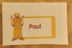 Paul Pop-up Book | Bible Songs And More - use some of the pages