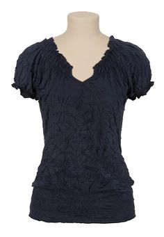 Crinkle Peasant Top - maurices.com