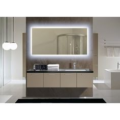 Halo tall led light bathroom mirror 1416 home sweet home light up your home with this rectangular backlit medium led mirror illuminated with an led light this mirror can be hung on your wall to allow optimal aloadofball Image collections