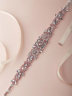 Glamorous rose gold crystal bridal belt features a dramatic crystal applique designed with fiery Austrian crystal rhinestones on an ivory satin ribbon. Rose Gold Wedding Dress, Wedding Dress Sash, Bling Wedding, Rhinestone Wedding, Gorgeous Wedding Dress, Crystal Wedding, Dream Wedding, Wedding Dresses, Wedding Dress Accessories