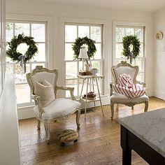Christmas decoration ideas for inside window?? :  wedding christmas decorating Three Christmas Wreaths L