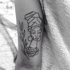 #tattoogirl #congo #africa #love ##blackworkerssubmission #btattooing#tttism…