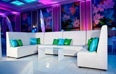 White leather high back lounge seating...Sophistication by afrevents.com