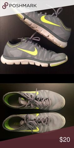 Nike tennis shoes size 9 Nike tennis shoes, runs narrow. Used but in good condition! Could use a wash. Nike Shoes Athletic Shoes