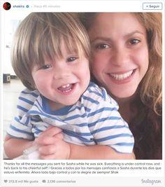 '¡Todo bajo control!', Shakira agradece el apoyo recibido los días que Sasha estuvo 'enfermito'