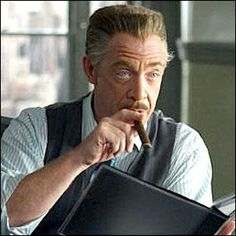 J.K. Simmons as J. Jonah Jameson in Sam Raimi's Spider-Man films. He IS J. Jonah Jameson.