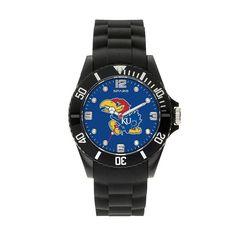 Sparo Men's Spirit Kansas Jayhawks Watch, Black