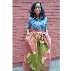 African Print Skirt  The Laura Maxi Skirt by CHENBURKETTNY on Etsy