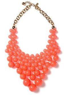 Best Statement Necklaces: Coral Bib Necklace