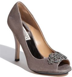 love this color for wedding party shoes, taupe-ish metallic